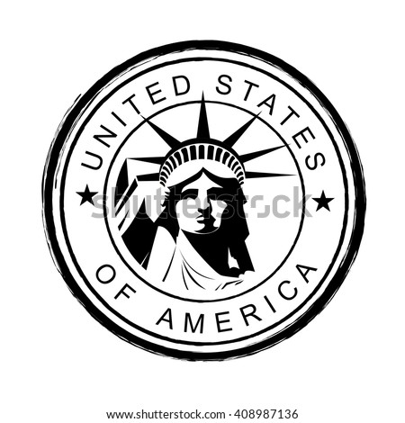 Statue of Liberty in the United States - stock vector