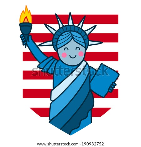 Statue of liberty. Independence Day. - stock vector