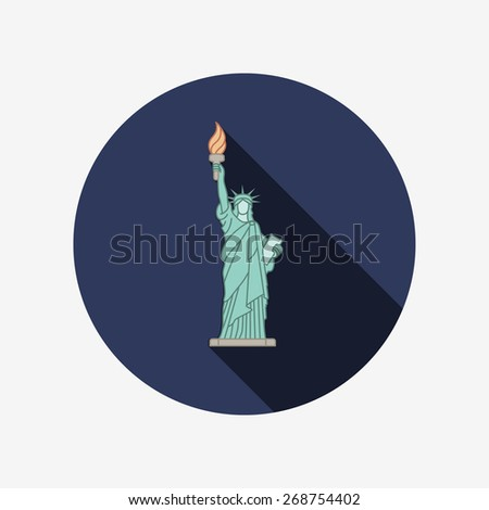 Statue of Liberty. New York landmark. American symbol - stock vector