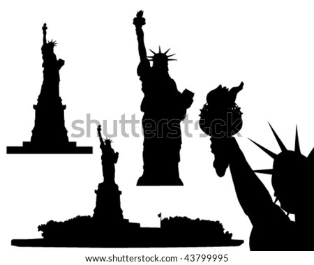 Statue of Liberty - vector - stock vector