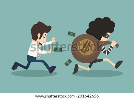steal money from business man, eps10 vector format - stock vector