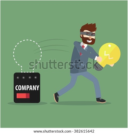 Stealing idea from corporate - stock vector