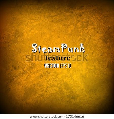 Steam punk texture background. Vector illustration. - stock vector