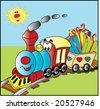 steam train illustration - stock vector
