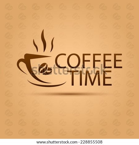 Steaming Coffee Cup Logo Coffee Shop Stock Vector ...