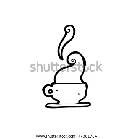 steaming hot cup of coffee cartoon