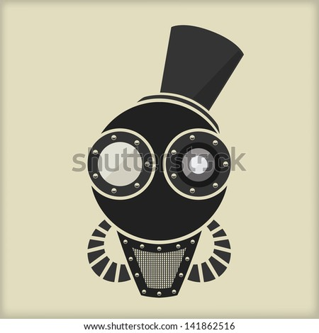 Steampunk / Vintage Character Design / With Goggles - stock vector