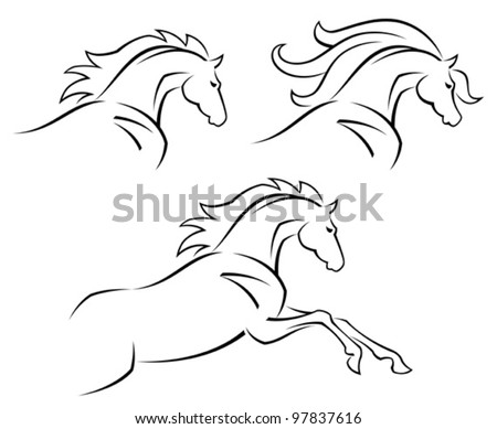Steed - stock vector