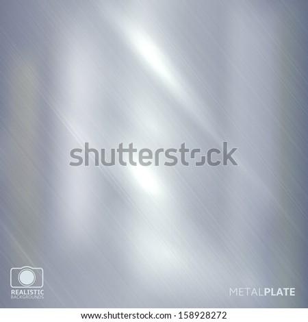 Steel background - stock vector
