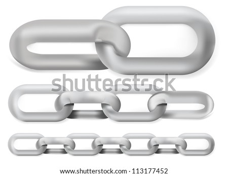 Steel chain set - stock vector