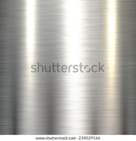 Steel metal background polished metallic plate texture .  - stock vector