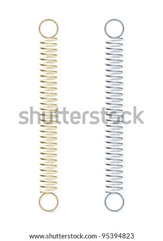 metal spring png. steel spring vector illustration isolated on white background metal png t