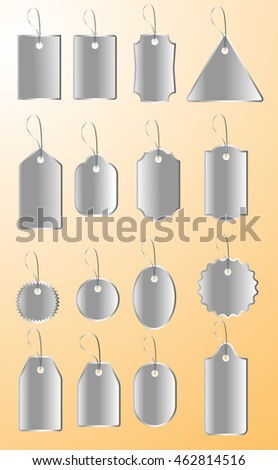 Steely Silver Retail Tags