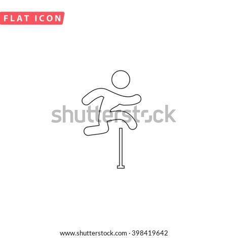 Steeplechase Icon Vector. Steeplechase Icon JPEG. Steeplechase Icon Picture. Steeplechase Icon Image. Steeplechase Icon JPG. Steeplechase Icon EPS. Steeplechase Icon AI. Steeplechase Icon Drawing - stock vector