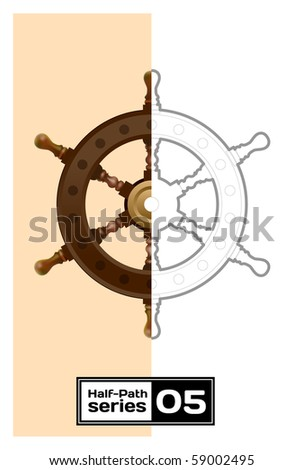 steering control. Half empty series - stock vector