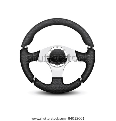 Steering wheel - stock vector