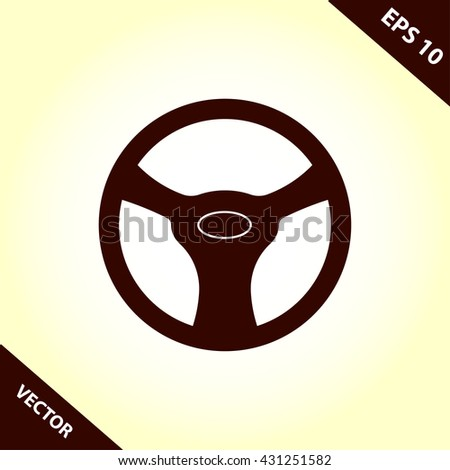 steering wheel icon. steering wheel vector illustration