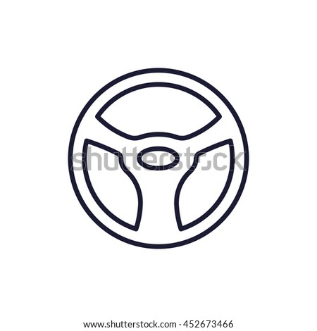 steering wheel line icon