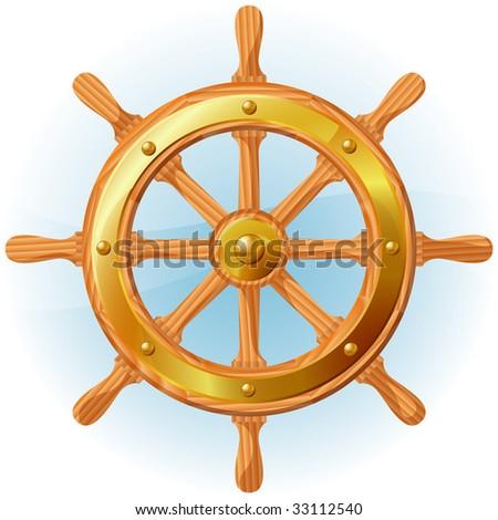 Steering wheel. Vector. - stock vector