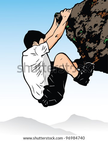 Stencil climber - vector illustration - stock vector