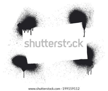 stencil frame - stock vector