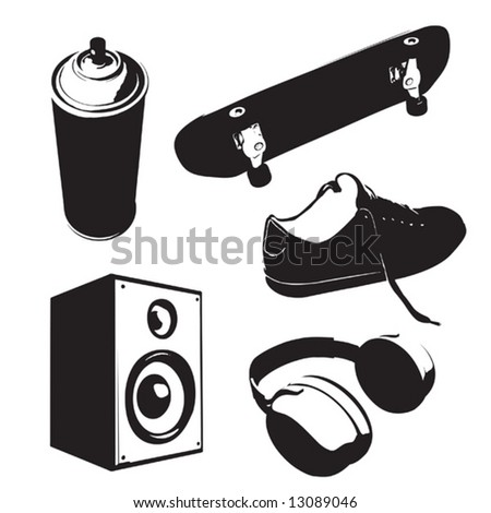 stencil set 01 (vector) - stock vector