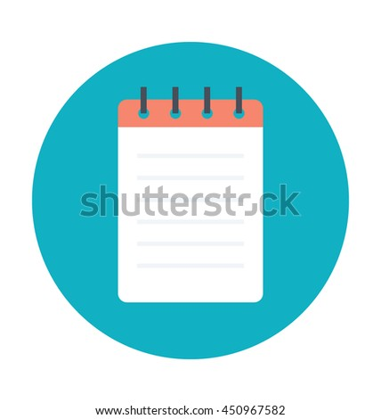 Steno Pad Colored Vector Icon