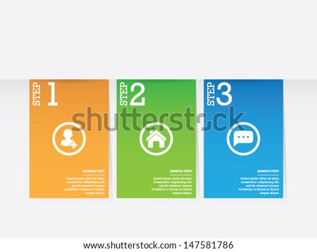 Step by Step Banners - stock vector