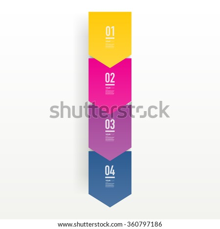 Step by step infographic design 3d boxes on simple background with numbers and text  can be used for workflow layout, diagram, chart, number options, web design.  Eps 10 stock vector illustration  - stock vector