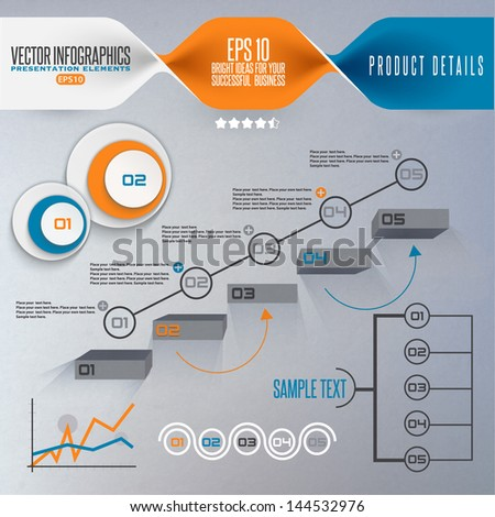 Step by step infographics illustration - stock vector