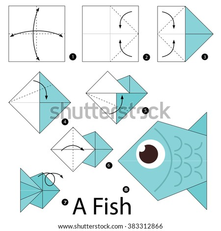 Origami fish step by instructions tutorial origami handmade for How to make fish