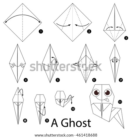 Step By Instructions How To Make Origami A Ghost