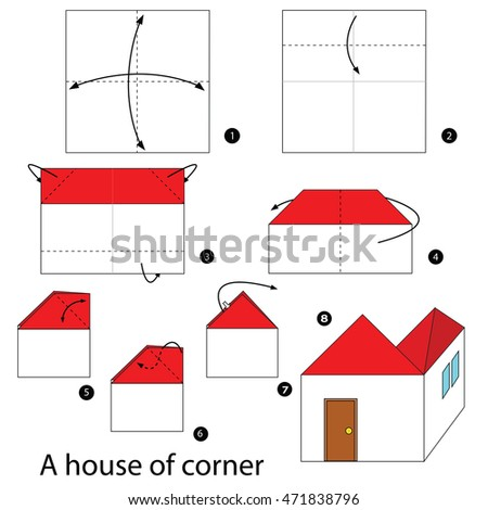 Paper plane instructions stock images royalty free images for How to build a house step by step