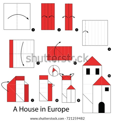 Step By Step Instructions How Make Stock Vector 653421409