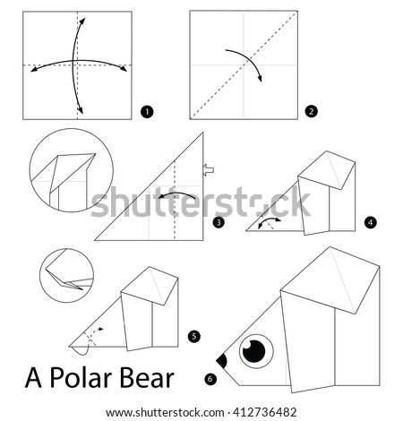Vector Illustration Instructions How Fold Origami Stock ... - photo#13