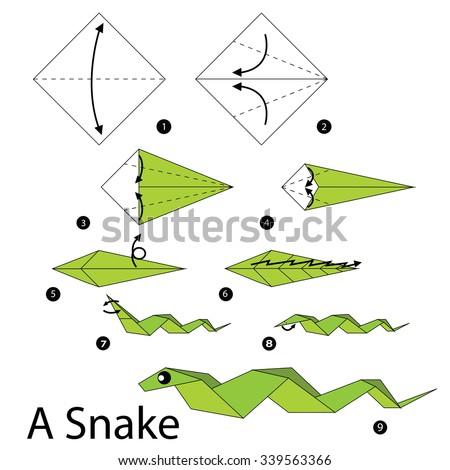 Origami Snake Stock Vectors & Vector Clip Art | Shutterstock