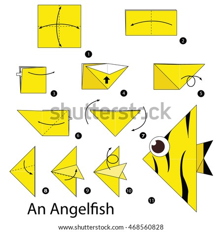 Step By Instructions How To Make Origami An Angelfish