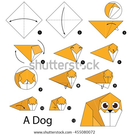 Step By Instructions How To Make Origami Dog