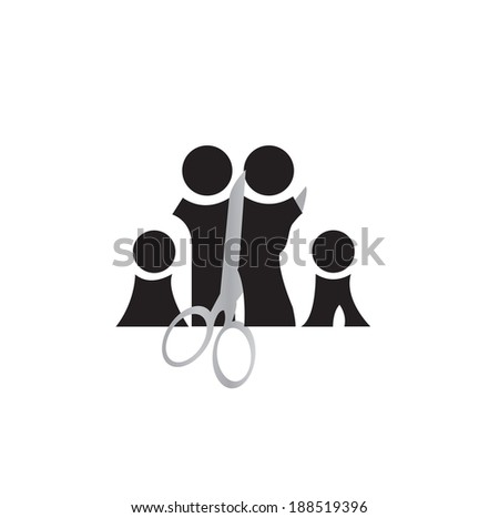 step family - stock vector