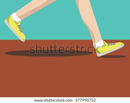 Step of running man , jogging ,sport running concept. - stock vector