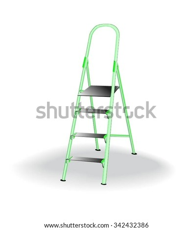 Stepladder Isolated - stock vector