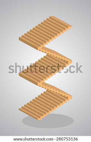 Steps to Success, stair vector, illustration. - stock vector