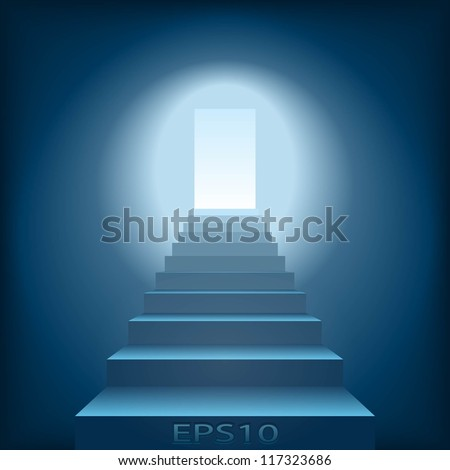 Steps to the future - stock vector