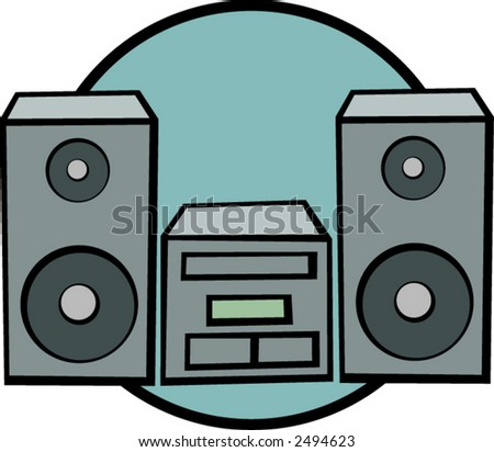 stereo - stock vector