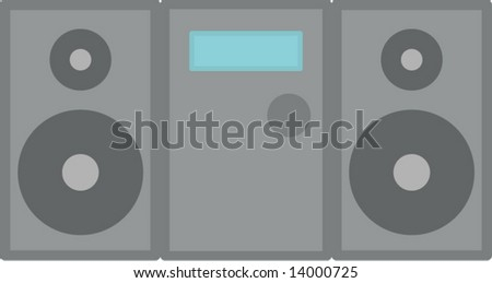 stereo audio player - stock vector