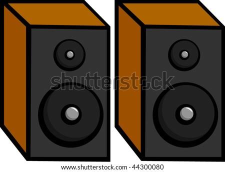 stereo speakers - stock vector