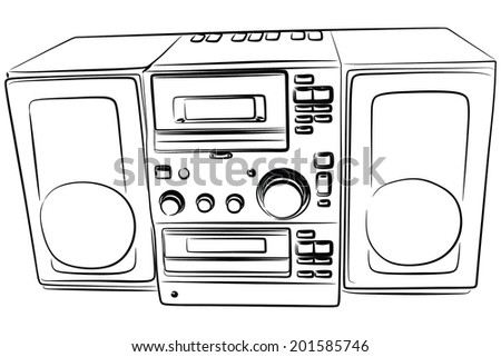 stereo system with two speakers