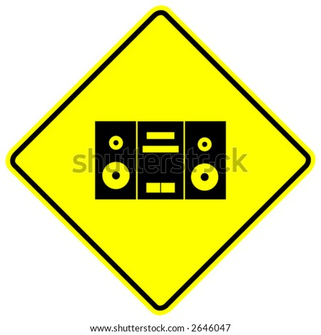 stereo zone sign - stock vector