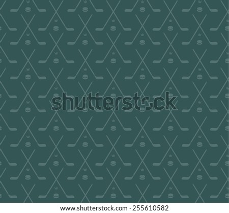 stick and puck pattern - stock vector