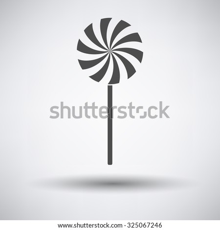 Stick candy icon on gray background with round shadow. Vector illustration. - stock vector
